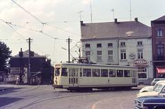 Once upon a time - Belgium - Jumet Gohyssart (Hainaut / Henegouwen) (railasia) Tags: belgium wallonia jumetgohyssart grouphainault interurban metergauge routenº66 motorcar infra doubletrack doublefork sixties