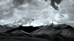 Central Himalaya, Tibet, China (PeterCH51) Tags: china blackandwhite bw mountain mountains nature monochrome clouds landscape blackwhite scenery peak tibet glacier himalaya himalayas lalungla friendshiphighway 5photosaday mywinners flickraward centralhimalaya earthasia peterch51 flickrtravelaward