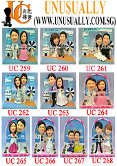 Unusually Custom 3D Wedding Couple Figurines Summary List - UC259 - UC268 - @www.unusually.com.sg (UNUSUALLY CREATION) Tags: christmas wedding cake corporate for 3d singapore couple unique special gifts creation figurines clay deal customized bobblehead custom maker printed loved ones toppers personalized minime uu in unusually groupon igongzai