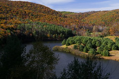 PA13C3712 (catnahat) Tags: autumn trees lake fall forest canon landscape eos pennsylvania fallcolors reservoir fallfoliage 6d kettlecreek leidy