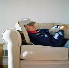 i'm a bit sleepy too (Just-a-Song) Tags: film mediumformat snooze rest napping resting zzzzzz mydad kodakportra400 myinnercouchpotatoneedssometimeinthespotlightsoon