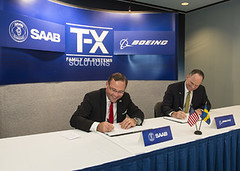 Boeing and Saab sign joint development agreement on T-X Family of Systems training competition (The Boeing Company) Tags: space tx security boeing usaf saab defense trainer usairforce bds