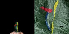 EXOGRAFIAS (Curro Rodrguez Visual Artist) Tags: portrait man guy art texture textura paper paint retrato faceless papel conceptual hombre pintura psico topography topografia exo exoesqueleto