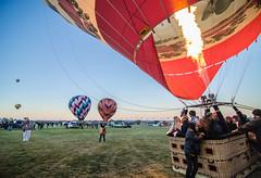 (Amalia Daz) Tags: sky sunrise fire basket balloon albuquerque balloonfiesta flickr12days