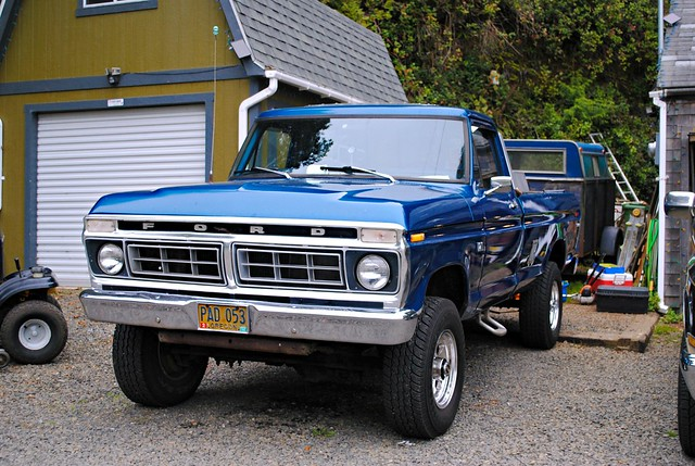 blue ford oregon truck woods or pickup pickuptruck pacificnorthwest 1977 cloverdale smalltown fordtruck f250 cloverdaleor cloverdaleoregon