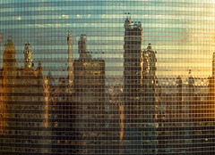 (The New No. 2) Tags: winter sunset sky urban usa chicago reflection building tower window glass architecture facade skyscraper outdoors evening illinois gbrearview unitedstates dusk steel il chicagoist johncrouch 333nwacker johncrouchphotography copyright2014johncrouch