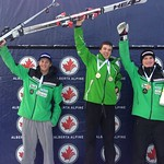 Jack Crawford (WMSC) wins GS on day 2 at Lake Louise Keurig Cup; BC Team's Martin Grasic (WVSC) 2nd and Blake Ramsden (WMSC) 3rd - January 2013