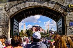 at Sultan Ahmet Square - Istanbul (Yousuf Bhatti (MYB)) Tags: by turkey aya sofia istanbul architect photograph frame sultan muhammad yousuf ahmet haghia sofiya bhatti mybs wwwfacebookcomthemybs