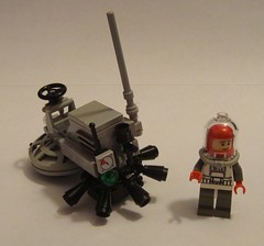 Classic Space Revisited - Rocket Sled (jgg3210) Tags: moon classic lego space rocket sled buggy minifigure radome moc