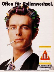 HB (1990) Offen fr Rollenwechsel (H2O74) Tags: man smile smart ads advertising funny king leute publicidad cigarette ad bat haus advertisement size anncio smell advert lustig attractive mann taste curler fumeur cigarettes smoker werbung publicit tobacco tabak 1990 hombre reklame 90s hb advertisment smells rulo homme publicitario zigaretten reiner raucher antigo adverts zigarette anzeige divertido drle cigarrillo fumador laune atractivo bigoudi geschmack offen fumatore anzeigen 90er sduisant attraktiv cigaretten bermann lockenwickler tabakwaren werbungen reklamen bigodino attraktiver spasig flavior rollenwechsel