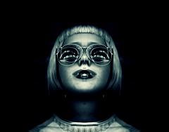+ (Cristian Dorme) Tags: blue light portrait abstract art colors girl canon dark hair glasses artistic creative blonde followme
