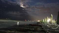 (Absacci) Tags: sea italy beach water evening italia mare acqua spiaggia sera bellaria