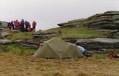 This tent just isn't big enough!! (Marklucylockett) Tags: tor dartmoor 1990 lydford lydfordtor marklucylockett davidgillard tentorstrainingdevon benmarner