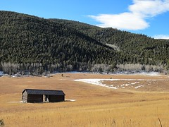 Elk Meadow (kenjet) Tags: winter field grass barn colorado meadow hills evergreen openfield elkmeadow elkmeadowpark