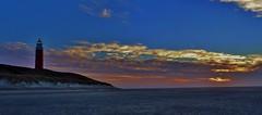 Lighthouse, Texel. (Romar Keijser) Tags: sunset sky sun lighthouse beach netherlands dutch clouds strand island coast wadden waddeneiland sand dunes nederland noordzee wolken zee lucht duinen vuurtoren texel zand eiland duin kust