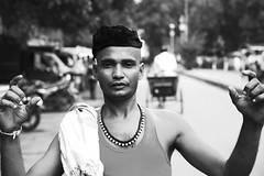 Shoot me! (tatakis81) Tags: portrait bw india canon eos blackwhite market delhi 5d
