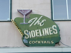 THE SIDELINES ARCATA CALIF (ussiwojima) Tags: california sign bar advertising neon lounge martini cocktail arcata thesidelinesthealibi