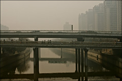 beijing smog ..... (ana_lee_smith) Tags: china travel history tourism toxic photography canal smog haze ancient chinese beijing environmental crisis grandcanal waterway airpollution beijinghangzhou analeesmith 1776kms