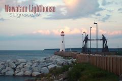 Wawatam Lighthouse (jakkijelene) Tags: lighthouse michigan postcard greatlakes upperpeninsula lakehuron stignace northernmichigan wawatam