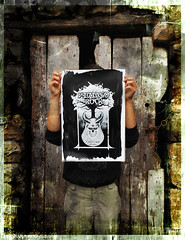 DSC_0115Poster Vidiago Rock X Edicion (monky.inc t-shirt) Tags: black festival rock metal ink dark paper print pablo silk asturias screen papel vidia junio grind llanes cartel serigrafia cueli