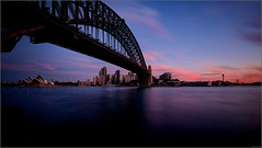 """Blue & Pink Winter Sunset"" Milsons Point, Sydney, Australia (July 2015) (Kommie) Tags: bridge winter sunset house point opera little harbour tripod sydney australia explore filter r lee fujifilm fujinon f4 milsons stopper ois xt1 1024mm"
