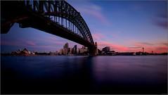 """Blue & Pink Winter Sunset"" Milsons Point, Sydney, Australia (July 2015) (Kommie) Tags: bridge winter sunset house point opera little harbour tripod sydney australia explore filter r lee fujifilm fujinon f4 milsons stopper ois xt1 1024mm"