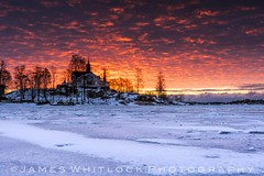 Lesson Learnt (James Whitlock Photography) Tags: europe finland helsinki sun sunrise dawn fire cloud ice frozen tree sea water luoto city island nikon d810 gitzo lee filters