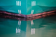 The Bow (Kat Hatt) Tags: kingston lakeontario kathatt bow ship water teal markings lines old canada