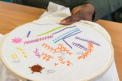 DSC_0725 (surreyadultlearning) Tags: embroidery sewing adulteducation surrey camberley art craft tutor uk painting calligraphy photography