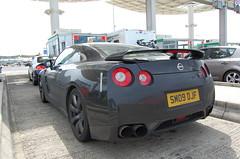 Nissan GT-R (D's Carspotting) Tags: nissan gtr france coquelles calais black 20100613 sm09djf le mans 2010 lm10 lm2010