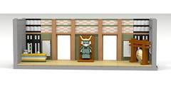 Tiny Tower Dojo Lobby (WarmHandSanitizer) Tags: nimblebit tiny tower dojo loby samurai lego gong