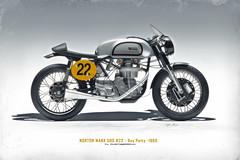NORTON Manx 500 no22 (1960) (Zuugnap) Tags: norton nortonmanx500 wwwtlphotographynl tjeu linssen zuugnap bike motorbike classicbike