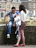 "Eindelijk "" rokjesdag "" . (Franc Le Blanc .) Tags: bridge people lumix spring couple sitting candid panasonic sit streetphoto seated shertogenbosch verliefd rokjesdag"