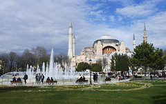 Hagia Sophia (Gregor  Samsa) Tags: old city monument turkey town ancient cathedral istanbul sight hagiasophia sophia byzantine hagia ayasofya byzantines