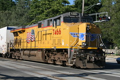 Union Pacific #7466 (GE ES44AC) in Colfax, CA (CaliforniaRailfan101 Photography) Tags: up amtrak unionpacific priority ge freight bnsf reefer manifest emd californiazephyr burlingtonnorthernsantafe dash9 dpu es44dc gevo sd70m amtk c449w stacktrain sd70ace es44ac colfaxca c45accte p42dc trackagerights es44c4 tietrain sd59mx unitreefer zdlsk trainsincolfaxca