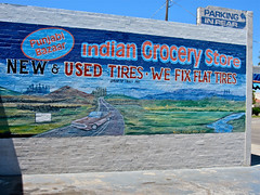 Indian Grocery Store, Tracy, CA (Robby Virus) Tags: auto california new food wall fix painting store mural automobile indian central tracy tires used flats repair valley bazaar grocery punjabi