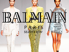 Balmain SS 2013 (sistervandall2) Tags: summer white inspiration black paris art beautiful leather fashion yellow skinny gold design spring model women body style clothes dresses favourites thin mode runway balmain catwalk olivier fashionweek eighteens
