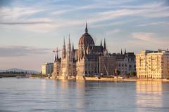 Budapest flood 2013 - the steps of the Parliament under water (hdr) (Romeodesign) Tags: sunset water june river high hungary flood budapest duna fluss danube hdr donau überschwemmung rakpart 2013 effuse 550d árvíz
