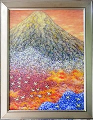 . (SURIN JUNG) Tags: abstract mountains japan landscape asia wildlife impressionist oilpainting surin fujiyama pointillism oiloncanvas surinjung suringallery surincjung
