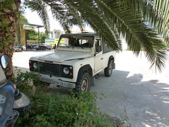 Land Rover 110 Defender in the shade