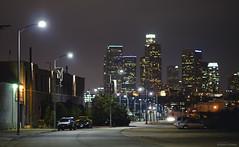 humid skyline (Jason Scheier) Tags: lighting street urban skyline dark landscape lights la los nikon long exposure angeles 85mm nikkor glens floresent 1point4 nlens