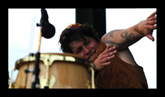 Congo Drummer (Poocher7) Tags: party musician music rock hilarious jazz funk hiphop congos latinmusic fivealarmfunk octopustattoo uptownwaterloojazzfestival