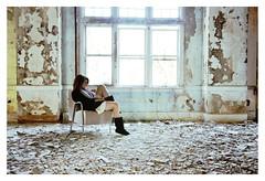 (emmakatka) Tags: portrait abandoned window girl self hospital chair dress asylum derelict dakota havennorth emmakatkasan