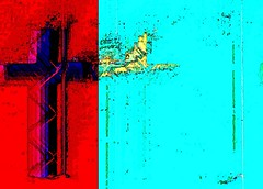 Flag (Ba®ky) Tags: abstract art texture colors japan religious pattern colours cross artistic god vibrant religion jesus surreal christian psychedelic wacky hue cartoonish iphone barky 芸術 سكس wowiekazowie iphoneography ba®ky barkyvision