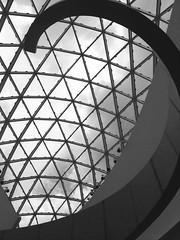 Dali Stairs (Barefoot In Florida) Tags: windows blackandwhite art stairs stpetersburg florida surrealism salvadordali