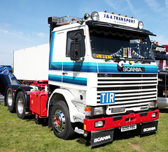 J and A Transport Scania 112M Truck D250 RBG Truckfest Peterborough 2013 (davidseall) Tags: uk truck j transport large goods lorry vehicle heavy peterborough cambridgeshire scania rbg tir haulage truckfest 2013 a d250 112m d250rbg