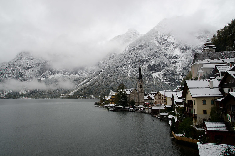 Hallstatt is a tiny town of less than 1,000 in the Upper Austrian Alps. When I rolled into town last week it had just snowed.