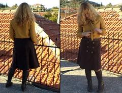 Mustard bow tie (liliv_1) Tags: tie sew blouse bow mustard burda tiefront 102010