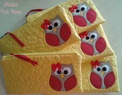 Estojo Escolar - Corujinha (Atelier Po Rosa) Tags: case escolar coruja estojo cojurinha