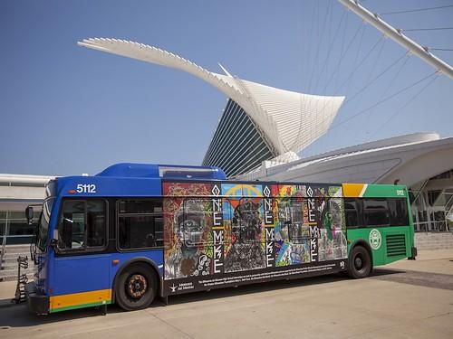 9. ONE: MKE, Milwaukee County Bus Mural